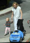 Diane Kruger takes a break from quarantine to get some fresh air with her daughter in Los Angeles