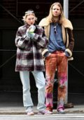Elsa Hosk and Tom Daly head out on a walk for a fresh juice in New York City