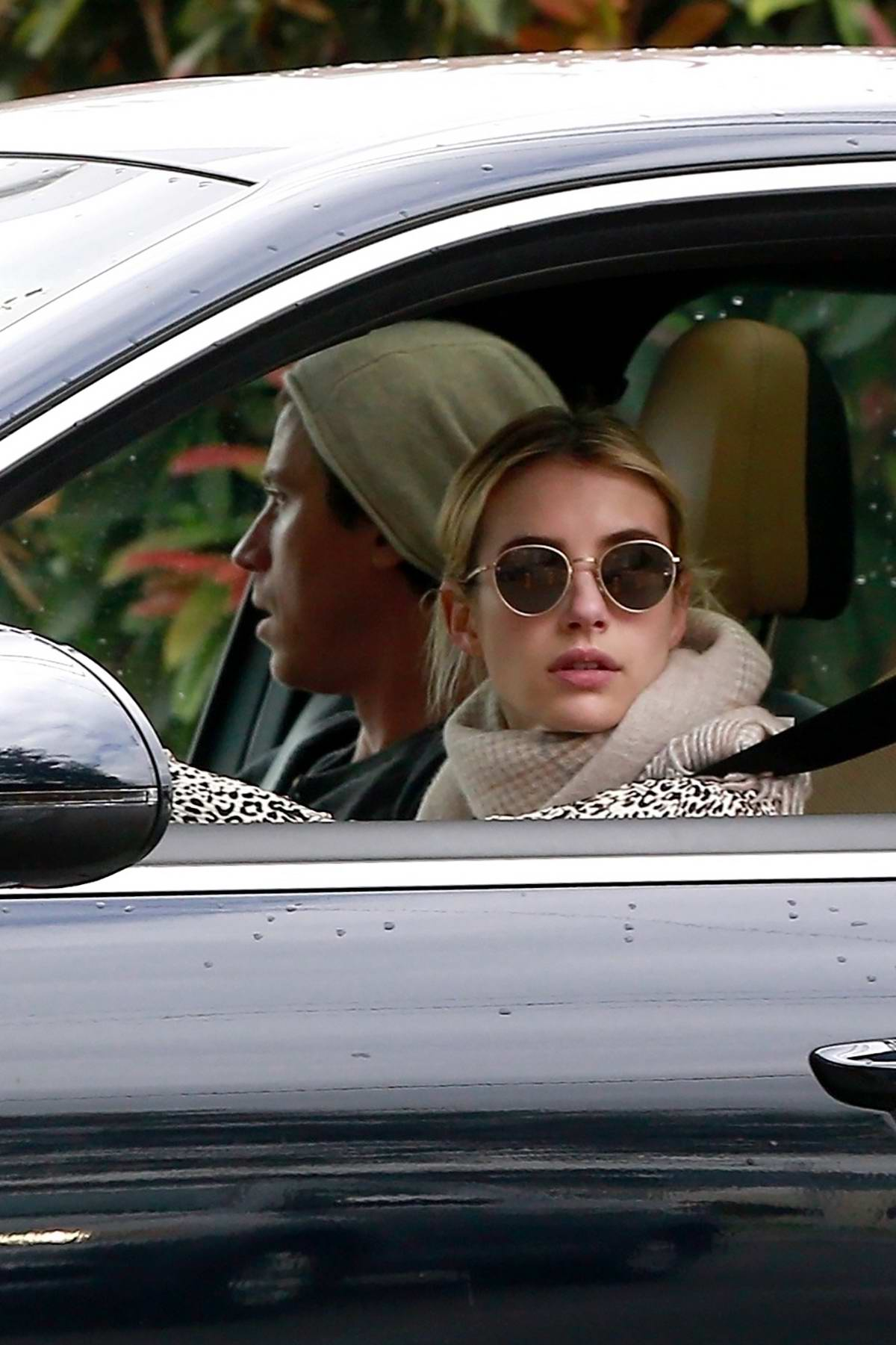 Emma Roberts and Garret Hedlund spotted at a Starbucks drive-thru in Los Angeles