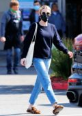 Emma Roberts makes a stop at a Rite Aid while out looking for essentials in Los Feliz, California
