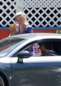 Florence Pugh spotted while out to buy some supplies with boyfriend Zach Braff in Los Angeles