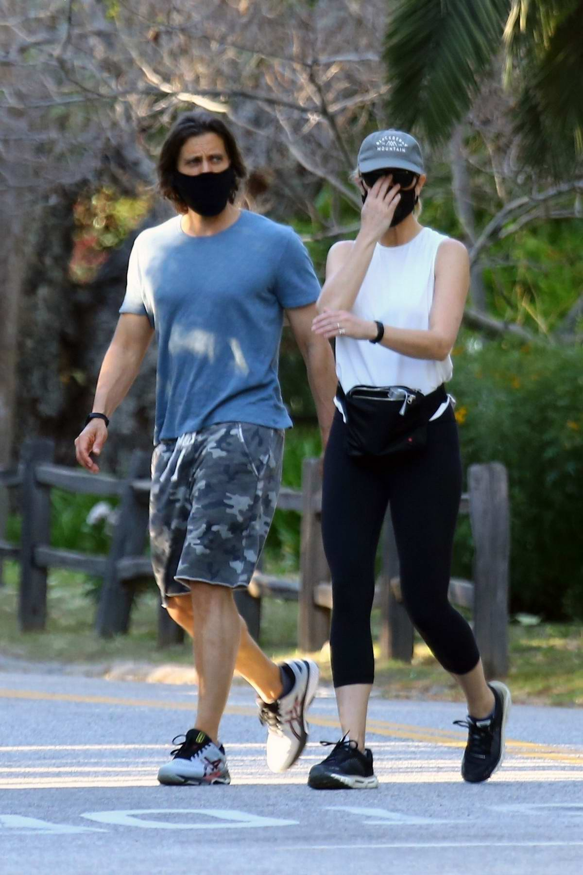 Gwyneth Paltrow goes incognito for an afternoon walk with Brad Falchuk in Brentwood, California