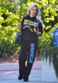 Holly Madison keeps it casual in her sweats as she steps out for a Starbucks in Los Angeles
