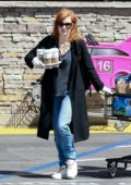 Jessica Chastain stocks up groceries and grabs a few coffees while out in Palos Verdes, California