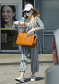 Jessica Chastain wears protective mask and gloves while shopping for baby essentials in Palos Verdes, California