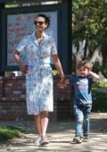 Jordana Brewster steps out for a stroll with her family in Santa Monica, California