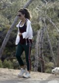 Kate Beckinsale takes her dog for a walk with male friend amid citywide lockdown in Los Angeles