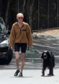 Kate Bosworth takes her dog for a walk with husband Michael Polish in Los Angeles