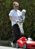 Kate Mara takes a break from isolation and steps out for a stroll with her daughter in Los Feliz, California
