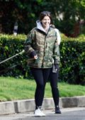 Katherine Schwarzenegger is all smiles while out a stroll with the family in Los Angeles