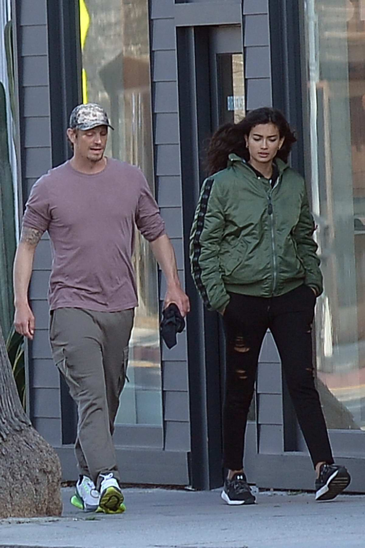 Kelly Gale and boyfriend Joel Kinnaman step out for a stroll in Los Angeles