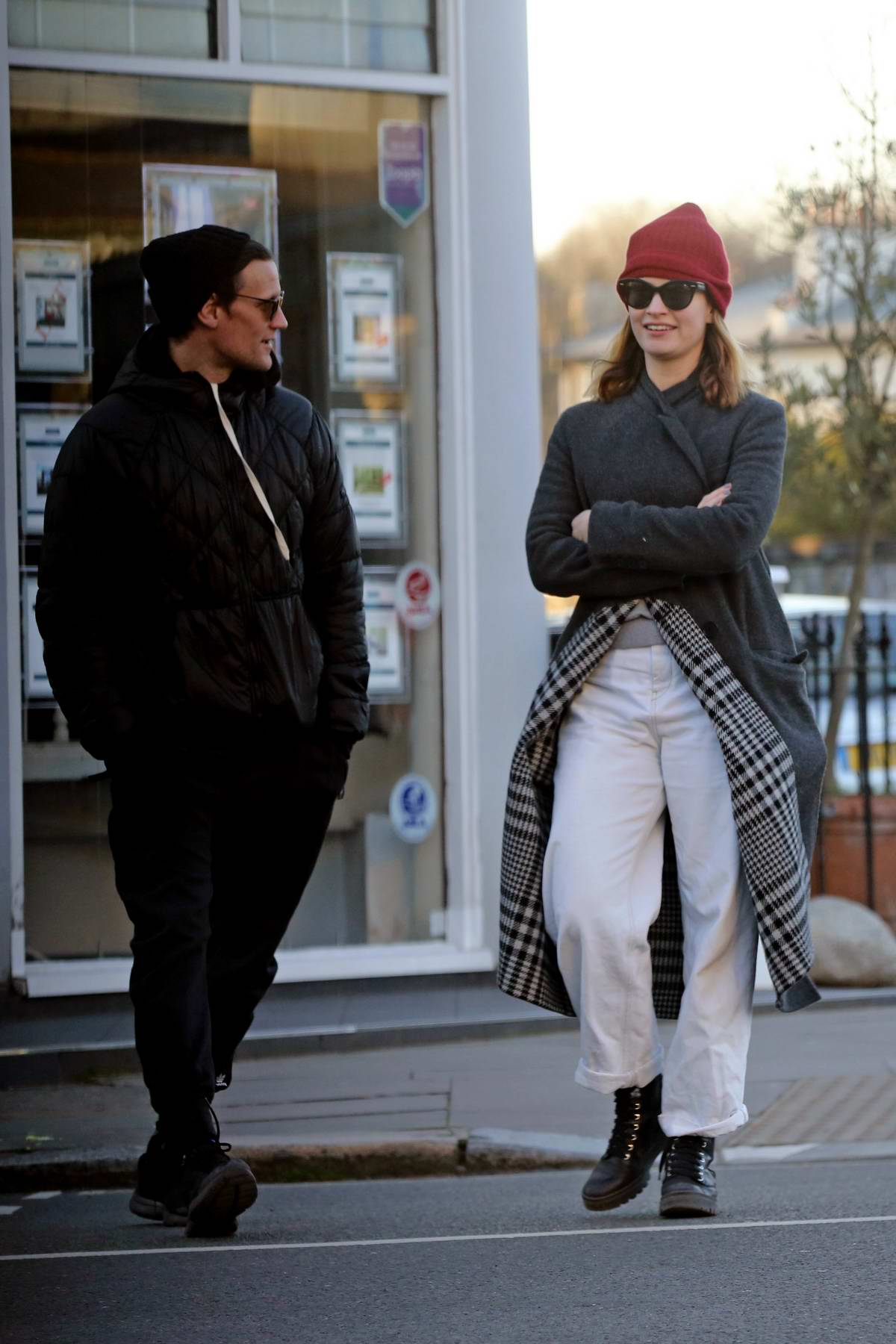Lily James and Matt Smith seen together for the first time in 2020 as they strolled in London, UK