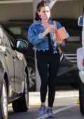 Lucy Hale makes a stop at a Starbucks drive-thru while out to run a few errands in Burbank, California