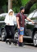 Malin Akerman and husband Jack Donnelly head out for a hike at Griffith Park in Los Feliz, California