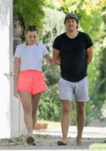 Margot Robbie and husband Tom Ackerley step out for a leisurely stroll around their neighborhood in Los Angeles