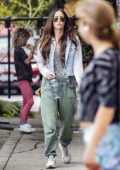 Megan Fox and Brian Austin Green take their kids for a family meal in Calabasas, California
