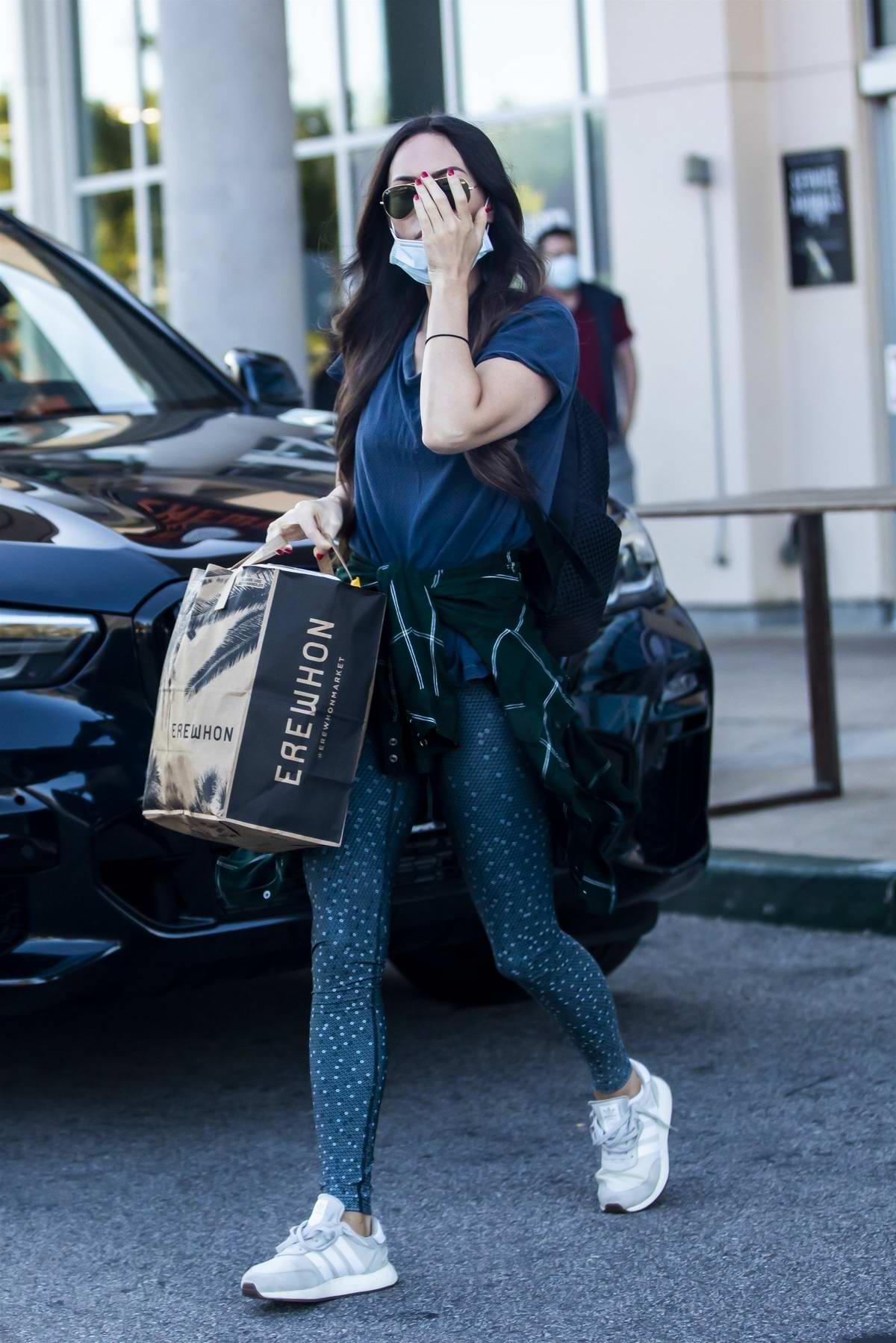 Megan Fox steps out for shopping at Erewhon Organic market in Calabasas, California