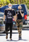Miley Cyrus and Cody Simpson step out for coffee at 10 Speed Coffee in Woodland Hills, California