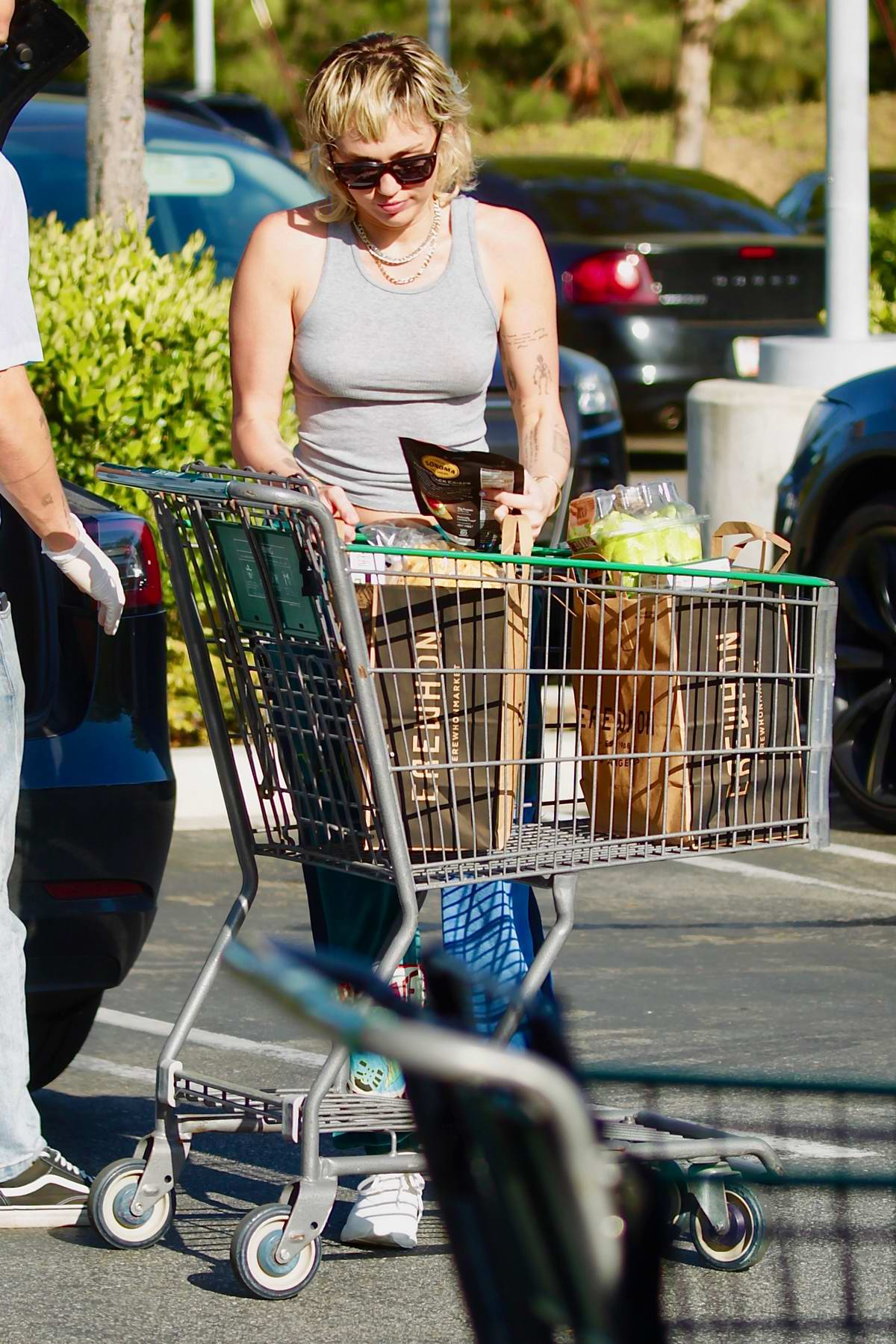 Miley Cyrus and Cody Simpson step out to get some groceries at Erewhon Market in Los Angeles