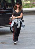 Myleene Klass keeps it casual as she arrives at the Global Studios in London, UK