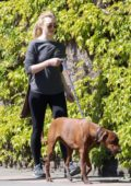 Natalie Dormer steps out for a walk with boyfriend David Oakes and her dog in Richmond, UK