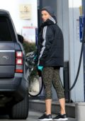Nicole Murphy makes a quick stop for gas while out in West Hollywood, California