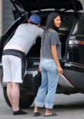 Nicole Scherzinger goes makeup free as she steps out wearing a tee and jeans in Los Angeles