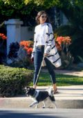 Nina Dobrev looks stylish as she steps out to walk her dog in Los Angeles