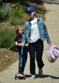 Olivia Wilde takes her kids to the park in Los Angeles