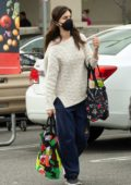 Rainey Qualley seen wearing mask while out for some shopping at Vons Market in Los Angeles