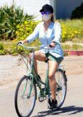 Reese Witherspoon enjoys another bike ride around Malibu, California