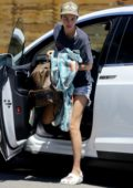 Ruby Rose seen visiting her friend's house for a pool party in Los Angeles