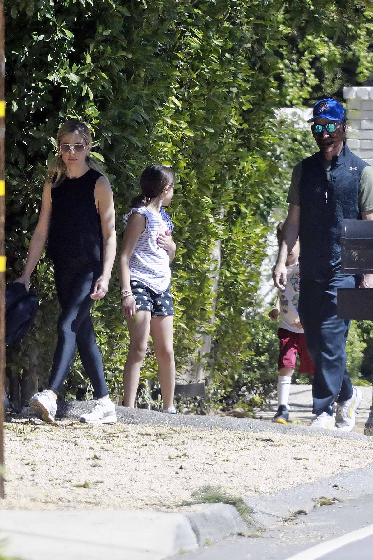 Sarah Michelle Gellar and Freddie Prinze Jr. step out for a walk with their kids in Los Angeles