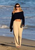 Sofia Richie enjoys a sunset stroll with Scott Disick at the beach in Malibu, California