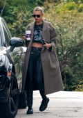 Stella Maxwell keeps it stylish while out to visit a friend during lockdown in Los Angeles