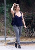 Alicia Silverstone keeps it comfy as she steps out to walk her dogs in Hollywood, California