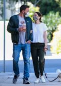 Ana de Armas and Ben Affleck look all loved-up while out for their daily dog walk in Venice, California