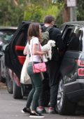 Ana de Armas and Ben Affleck pack up their Rover as they leave Venice, California