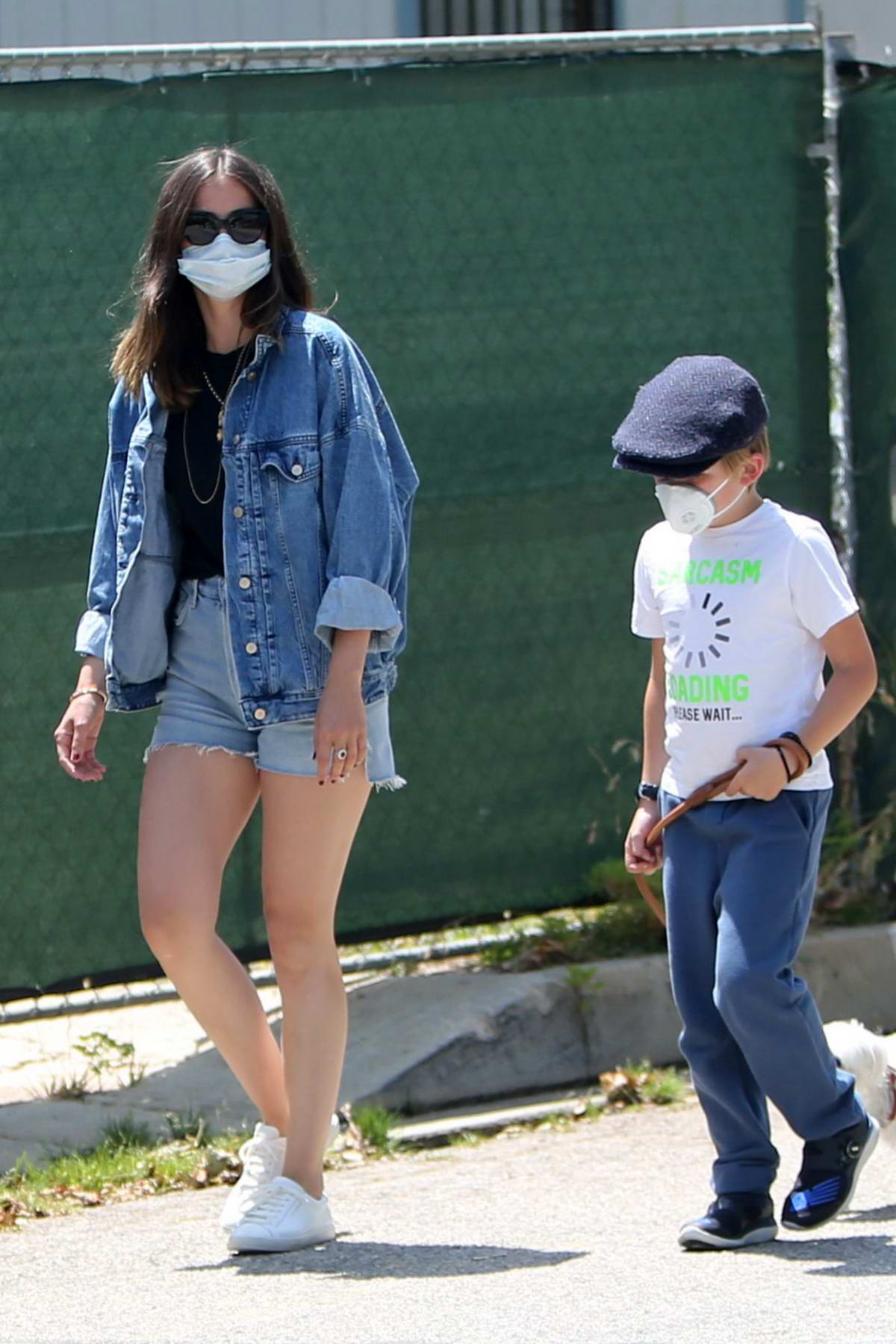 Ana de Armas and Ben Affleck spend the morning with his kids while walking the dogs in Brentwood, California