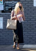 Annabelle Wallis picks up a few treats for the dogs at Tailwaggers in Los Feliz, California