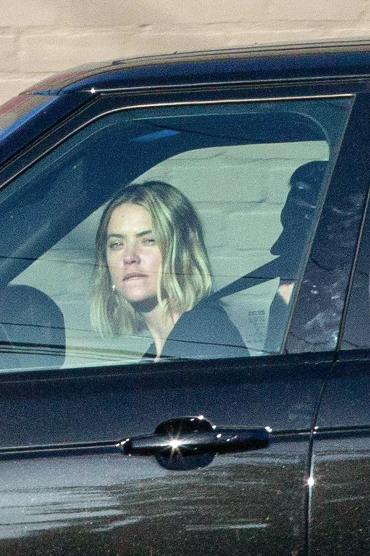 Ashley Benson and G-Eazy step out together as they pick up some take out at the Apple Pan Restaurant in Los Angeles