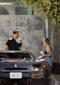 Ashley Benson seen wearing a bikini top as she heads out with G-Eazy on Memorial day in Malibu, California