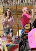 Bella Thorne and Ruby Rose have a good time at a birthday party in Studio City, California