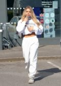 Bianca Gascoigne seen heading to the co-op to pick up some shopping in Kent, UK