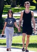 Camila Cabello and Shawn Mendes step out for their morning stroll and coffee in Coral Gables, Florida