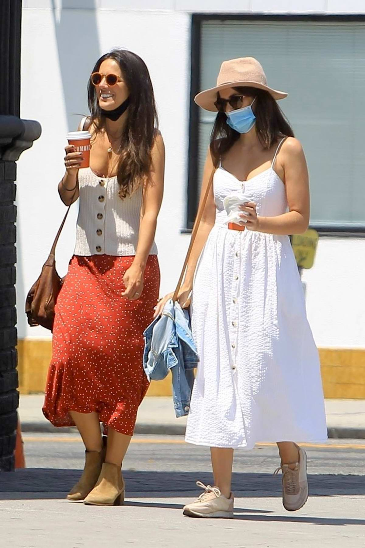 Camilla Belle steps out for a stroll with a friend in West Hollywood, California