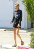 Cara Delevingne steps out to get some cash at her local Chase ATM in Los Angeles