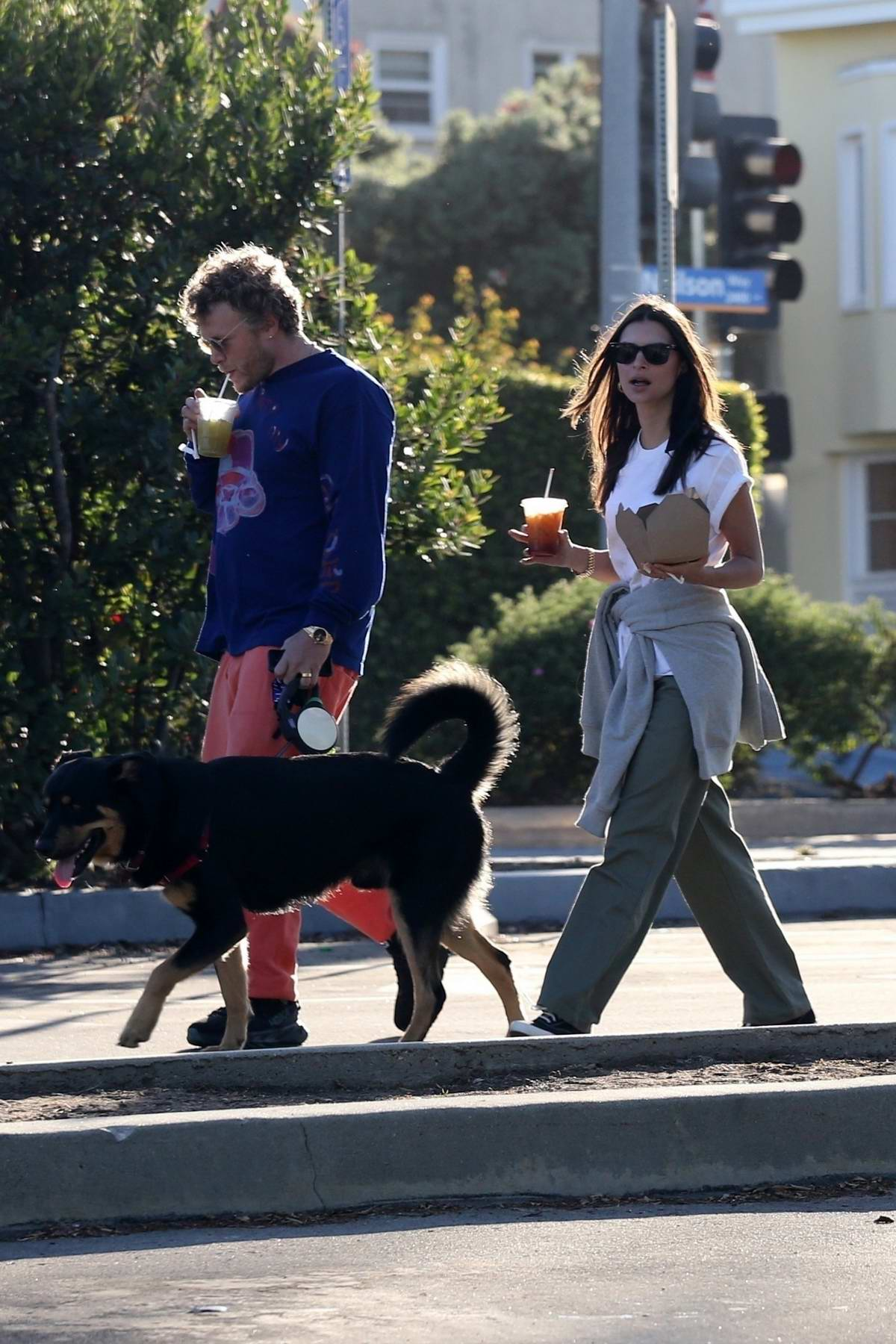 emily ratajkowski visits the beach with her husband to ...