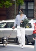 Helena Christensen takes a break from quarantine as she gets some fresh air at a park in New York City