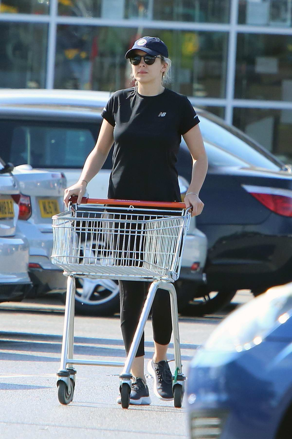 Jodie Comer steps out for some shopping with her brother Chalie at Sainsbury's in Liverpool, UK
